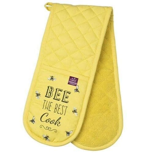 Bee Happy Double Oven Gloves